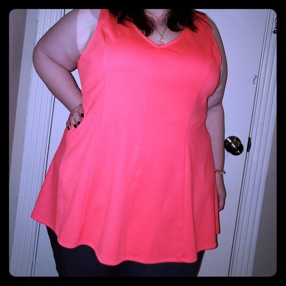 torrid Tops - Torrid Pink peplum shirt